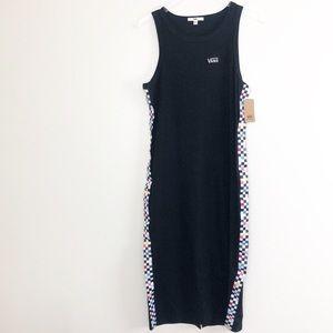 VANS l Hot Charm Midi Checkered Skater Dress NWT